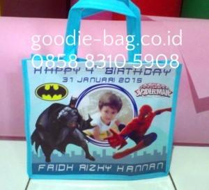 Tas Ulang Tahun Batman Spiderman