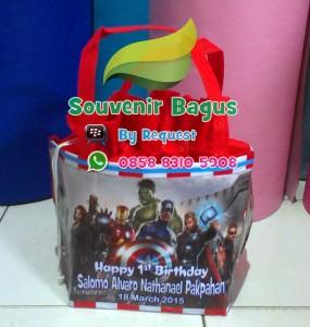 Tas Ultah The Avengers / Tas Souvenir Ulang Tahun Anak The Avengers
