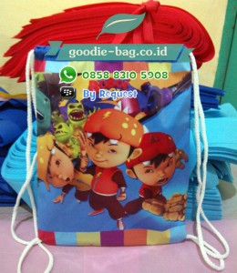 Tas Ultah Anak Serut Backpack Boboiboy