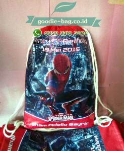 Tas Ultah Anak Spiderman Serut Backpack