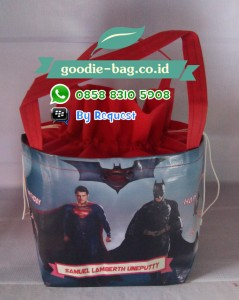 Tas Ultah Anak Batman vs Superman: Dawn of Justice / Goodie Bag Ultah Batman vs Superman: Dawn of Justice