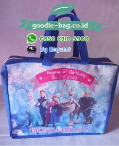 Tas Ulang Tahun Anak Frozen Ritsleting / Goodie Bag Birthday Frozen With Zipper