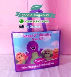 Tas Ultah Anak Barney / Tas Ulang Tahun Barney