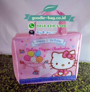 Tas Ulang Tahun Anak Hello Kitty Ritsleting / Tas Ultah Hello Kitty Resleting