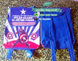 Tas Ultah Anak Captain America / Tas Ulang Tahun Captain America Gendong
