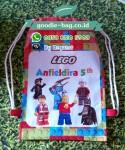 Tas Ultah Anak Serut Ransel Lego / Tas Ultah Serut Backpack Lego / Drawstring Backpack Lego