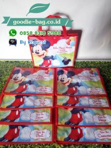 Tas Ultah Mickey Mouse Pakai Nama Undangan