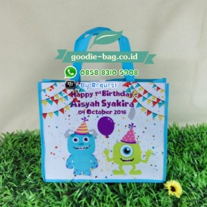 Goodie Bag Ultah Monster Inc / Tas Souvenir Ulang Tahun Monster Inc