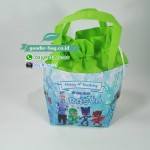 Goodie Bag Ulang Tahun PJ Mask Unik Serut Warna Hijau Muda