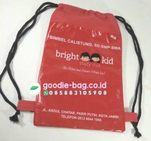 String Bag Kursus Bahasa Tas Souvenir Kursus Bentuk Serut Backpack