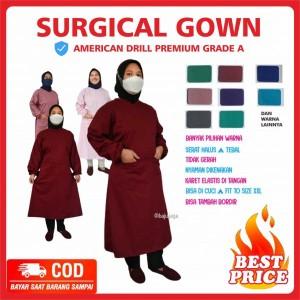 APD Gown Medis Drill America Terlaris Kudus Pati Semarang Jakarta